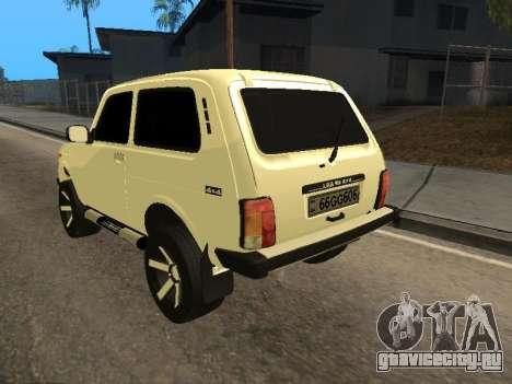 Vaz 2121 Niva Armenian для GTA San Andreas вид сзади слева