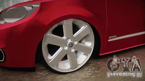 Volkswagen Voyage Fix для GTA San Andreas вид сзади