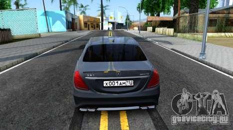 Mercedes-Benz S63 AMG для GTA San Andreas вид сзади слева