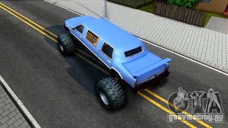 Stretch Monster Truck для GTA San Andreas вид сзади