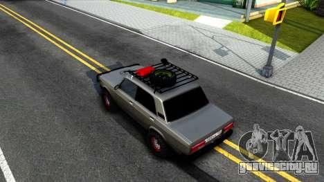 ВАЗ 2107 4X4 для GTA San Andreas вид сзади