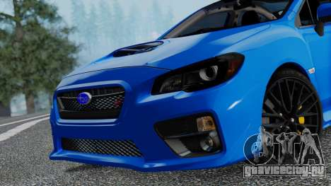 Subaru WRX STi 2017 для GTA San Andreas вид сзади