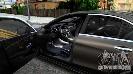 Mercedes-Benz C250 AMG Edition для GTA San Andreas вид изнутри