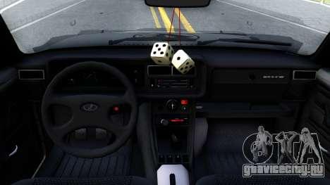 ВАЗ 2107 4X4 для GTA San Andreas вид изнутри