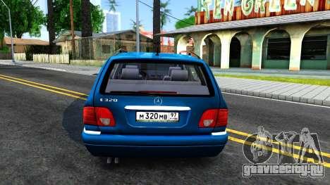 Mercedes-Benz W210 E320 1997 для GTA San Andreas вид сзади слева