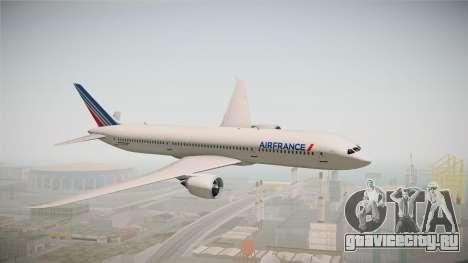 Boeing 787 Air France для GTA San Andreas вид сзади слева