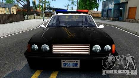 Vincent Cop для GTA San Andreas вид изнутри