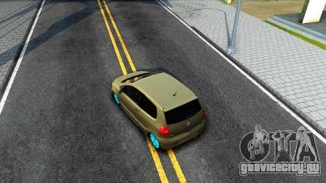 Volkswagen Fox для GTA San Andreas вид сзади