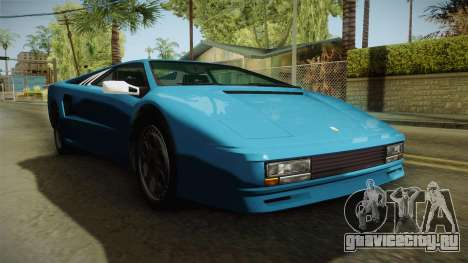 GTA 5 Infernus Classic для GTA San Andreas вид справа