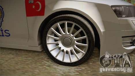 Audi A6 Turkish Police для GTA San Andreas вид сзади