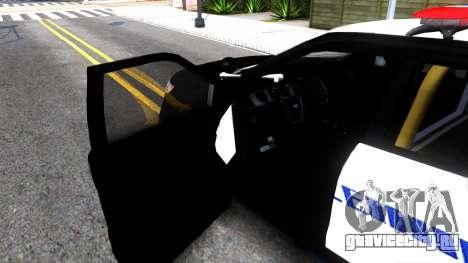 Ford Explorer Police для GTA San Andreas вид изнутри