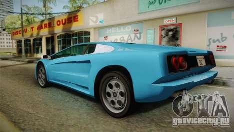 GTA 5 Infernus Classic для GTA San Andreas вид слева