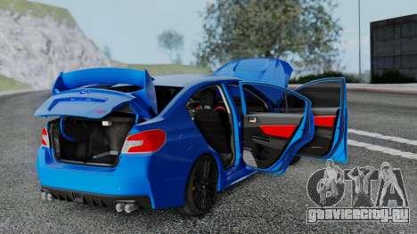 Subaru WRX STi 2017 для GTA San Andreas вид сверху