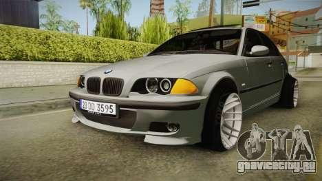 BMW 320d E46 Sedan для GTA San Andreas вид сзади слева