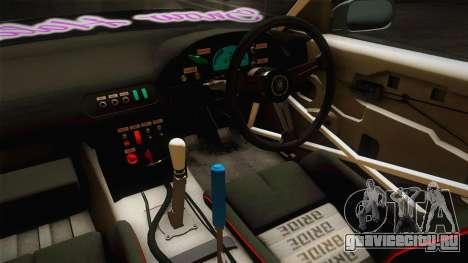 Nissan 380SX Bensopra LL Snow Halation Itasha для GTA San Andreas вид сбоку