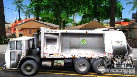 ORC Garbage Truck для GTA San Andreas вид слева