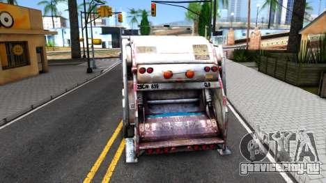 ORC Garbage Truck для GTA San Andreas вид сзади слева