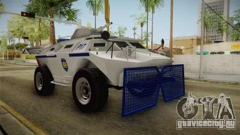 Turkish Police APC with Water Cannon для GTA San Andreas вид справа