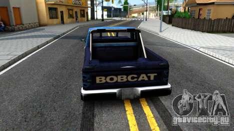 Derby Bobcat для GTA San Andreas вид сзади слева