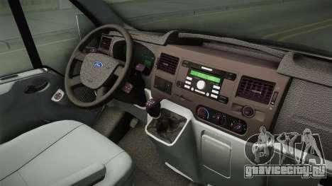 Ford Transit Forenzika для GTA San Andreas вид изнутри