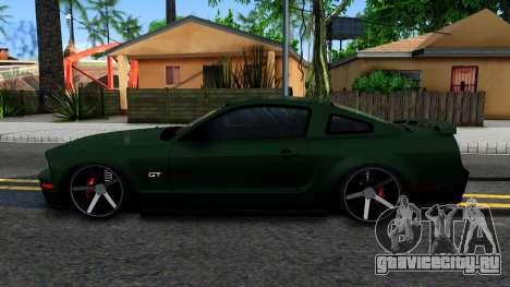 Ford Mustang GT 2009 для GTA San Andreas вид слева