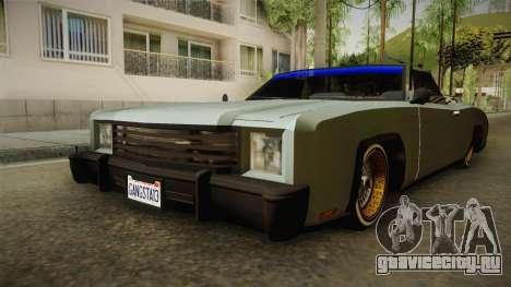New Buccaneer для GTA San Andreas вид справа