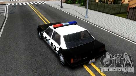 Vincent Cop для GTA San Andreas вид сзади