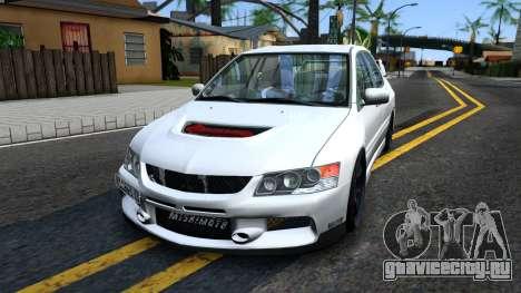 Mitsubishi Lancer Evolution IX для GTA San Andreas