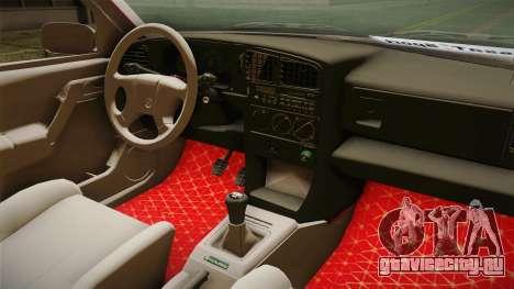 Volkswagen Passat B3 GT 2.0 для GTA San Andreas вид изнутри