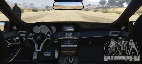 Mercedes-Benz E63 AMG 2013 для GTA 5 вид сзади слева