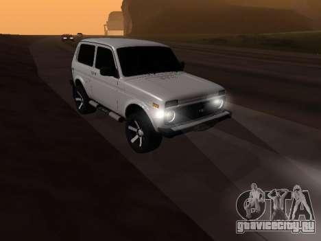 Vaz 2121 Niva Armenian для GTA San Andreas вид справа