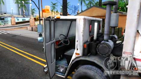 ORC Garbage Truck для GTA San Andreas вид изнутри