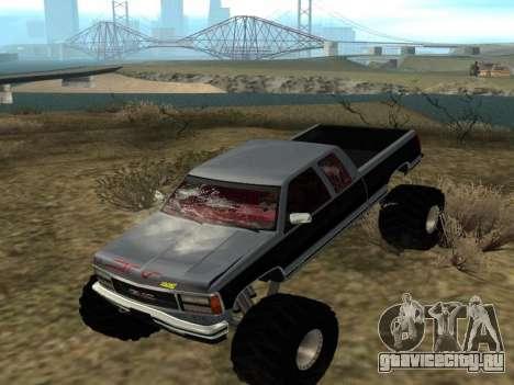 GMC Sierra 2500 Monster 1998 для GTA San Andreas вид сзади