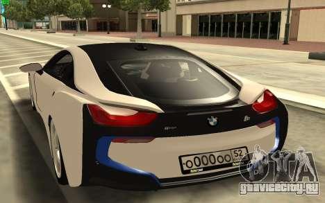 BMW i8 для GTA San Andreas вид сзади слева