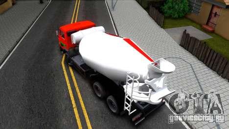 Камаз 65115 v2 для GTA San Andreas вид сзади