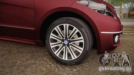 Mercedes-Benz A200 для GTA San Andreas вид сзади