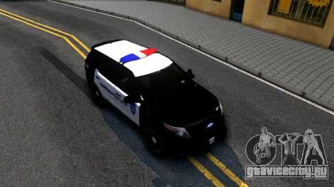 Ford Explorer Police для GTA San Andreas вид справа