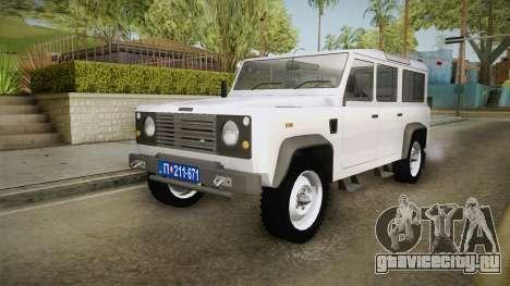 Land Rover Defender 110 Policija Undercover для GTA San Andreas