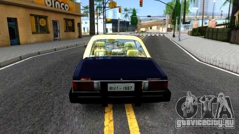 Chevrolet Opala 87 Diplomat Coupe для GTA San Andreas вид сзади слева