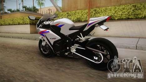 Honda CBR1000RR HRC 2012 для GTA San Andreas вид сзади слева