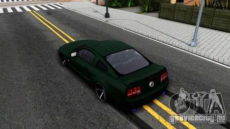Ford Mustang GT 2009 для GTA San Andreas вид сзади