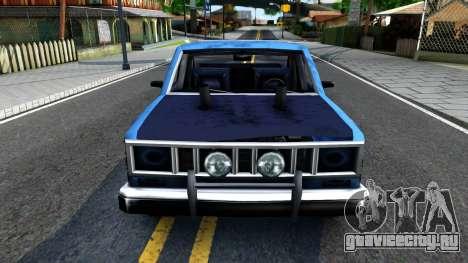 Derby Bobcat для GTA San Andreas вид изнутри