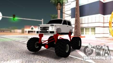 Vaz 2121 Monster Armenian для GTA San Andreas вид сзади слева