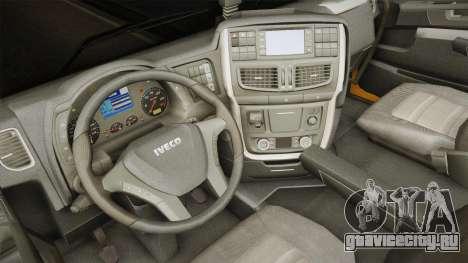 Iveco Stralis Hi-Way 560 E6 6x2 v3.0 для GTA San Andreas вид изнутри