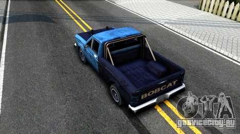 Derby Bobcat для GTA San Andreas вид сзади