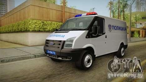 Ford Transit Полиција для GTA San Andreas вид справа