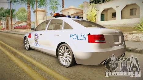 Audi A6 Turkish Police для GTA San Andreas вид слева