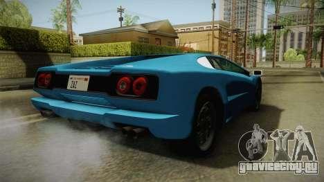 GTA 5 Infernus Classic для GTA San Andreas вид сзади слева