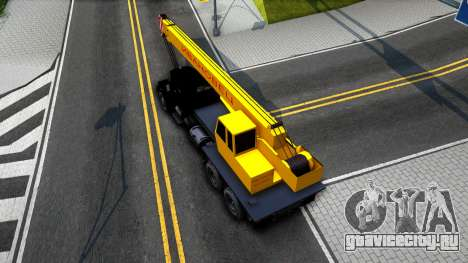 КрАЗ-257 Автокран для GTA San Andreas вид сзади