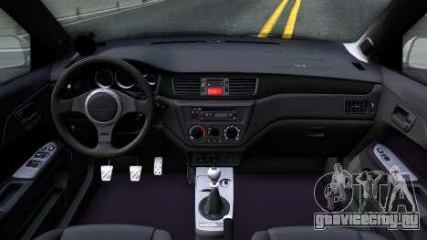 Mitsubishi Lancer Evolution IX для GTA San Andreas вид изнутри